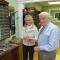 Debbie Muller and Gene Shifflett at Pro Optic