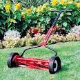 Caution: Boomers Mowing Grass