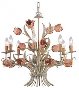 Crystorama 4808-SR, Southport Candle 1 Tier Chandelier