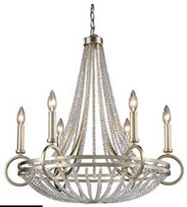 ELK 31014:6, New York Candle 1 Tier Chandelier Lighting