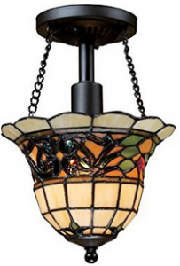 Elk 70021-1 Tiffany Buckingham 1-Light Semi-Flush Mount