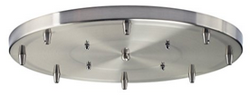 Elk 8R-SN 8-Light Round Pan In Satin Nickel