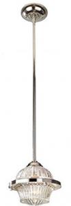 Feiss 1-Light Mini Pendant, Polished Nickel
