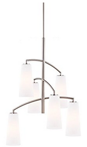 Feiss F2949:6BS 6-Bulb Chandelier