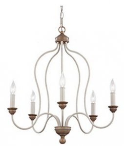 Feiss F2998:5CHKW:BW 5-Light Chandelier