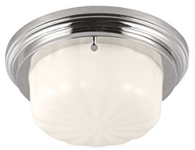 Feiss FM382PN 1-Bulb Flush Mount Wall Sconce