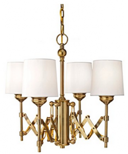 Feiss-Four Light Bali Brass Up Chandelier-F2819:4BLB