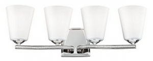 Feiss VS20204PN 4-Light Vanity Light Fixture
