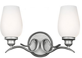 Feiss VS21302HTSL 2-Light Vanity Light Fixture
