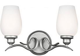 Feiss VS21302HTSL 2-Light Vanity Light Fixture