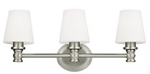 Feiss VS22103SN 3-Light Vanity Light Fixture
