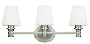 Feiss VS22103SN 3-Light Vanity Light Fixture