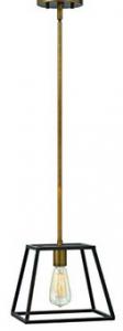 Hinkley 3337BZ One Light Stem Light Hung Pendant