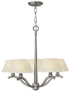 Hinkley 4615BN, Whitney 1 Tier Chandelier Lighting with Shades