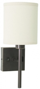 House of Troy WL625-OB Wall Lamp with Convenience Outlet