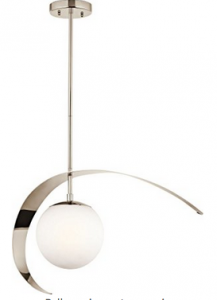 Kichler Lighting 42036PN Escala 1-Light Pendant