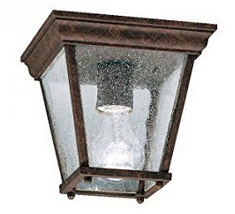 Kichler Lighting 9859BK New Street 1LT Exterior Flush Mount