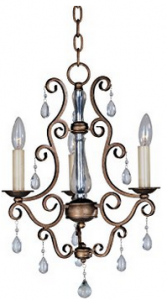 Maxim Lighting 12024AD Three Light Auburn Dusk Up Mini Chandelier