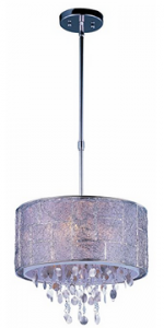 Maxim Lighting 21564TWPN Five Light Drum Shade Pendant