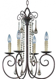 Maxim Lighting 22204UR Four Light Up Chandelier,