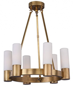 Maxim Lighting 22416SWNAB Six Light Up Chandelier