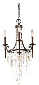 Murray Feiss F2662:3HTBZ Cascade 3 Light Mini Chandelier