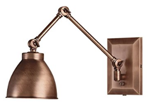 Norwell Lighting 8471-PW-WS Maggie - One Light Swing Arm Wall Sconce