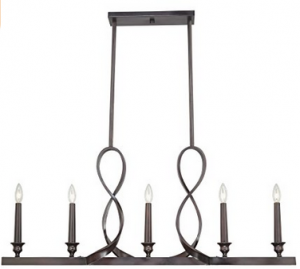Quoizel WF542DC Whitfield 5-Light Island Chandelier