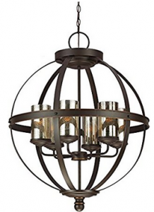 Seagull 3110406BLE-715 Six Light Chandelier